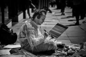 A street painter- street photography from Bath