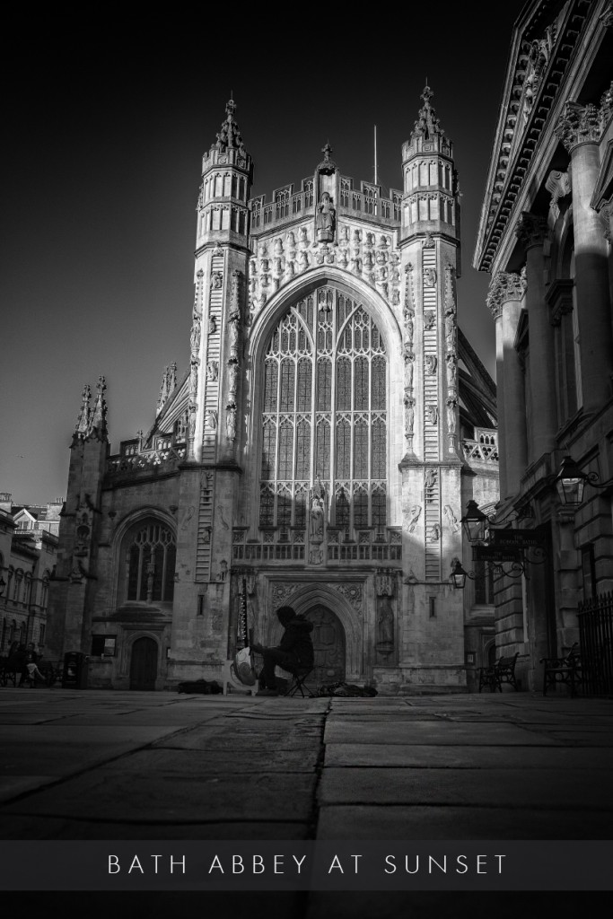 Bath Abbey at sunset