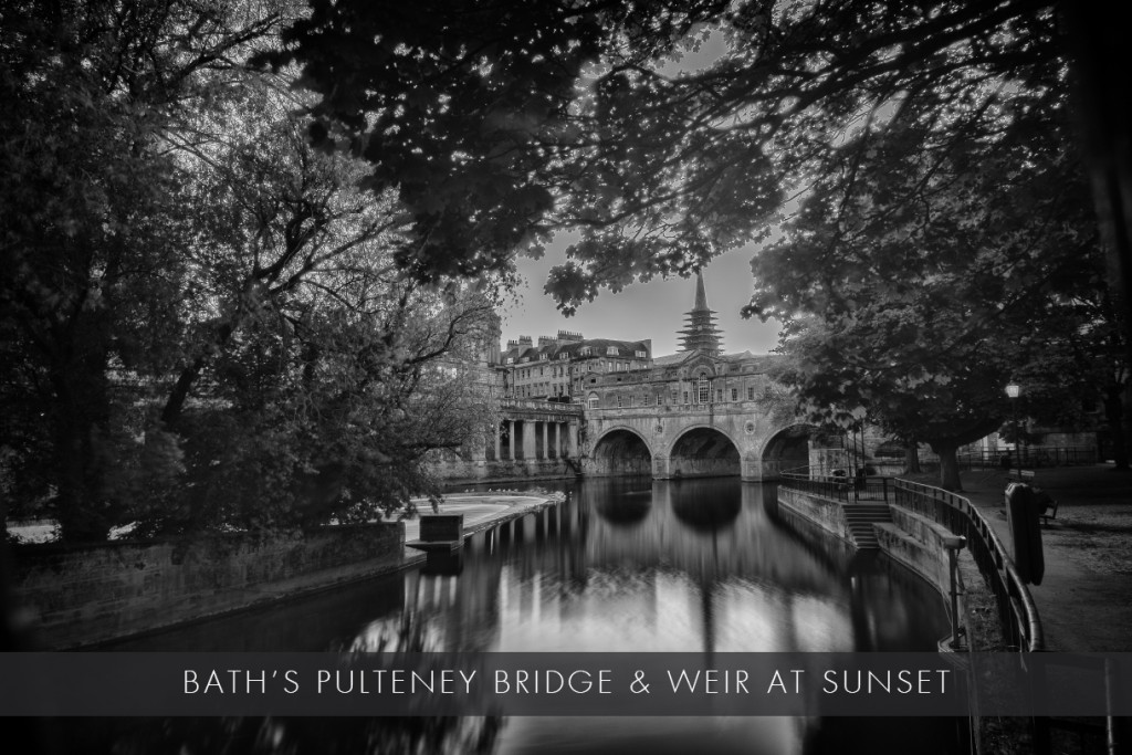 Bath's Pulteney Bridge and weir