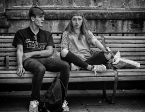 smoking couple- street photography from Bath