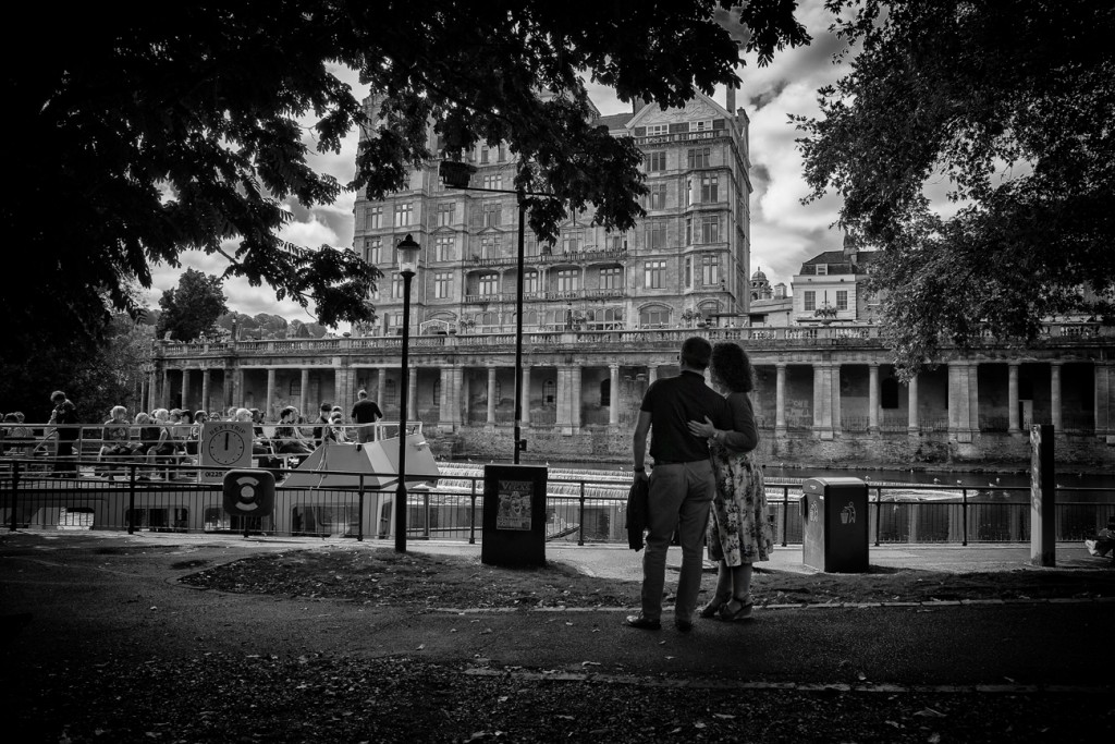 a couple at the river - UK street Photography