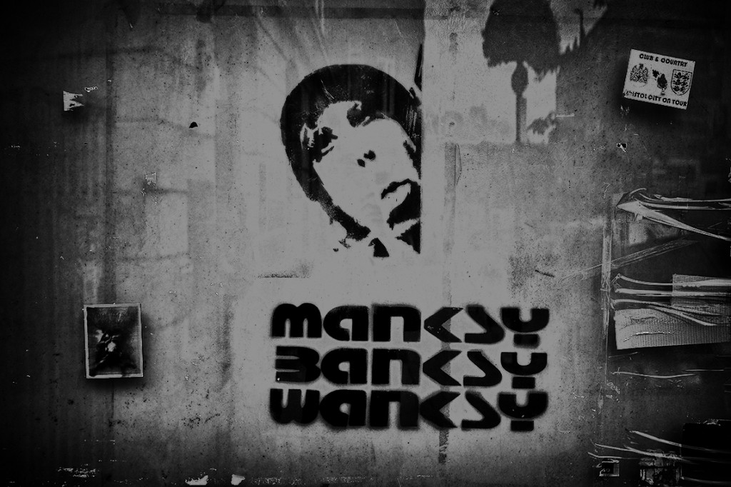manky banksy - UK street Photography