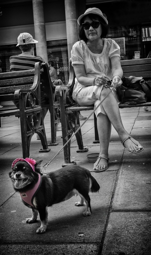 bella in pink - UK street Photography