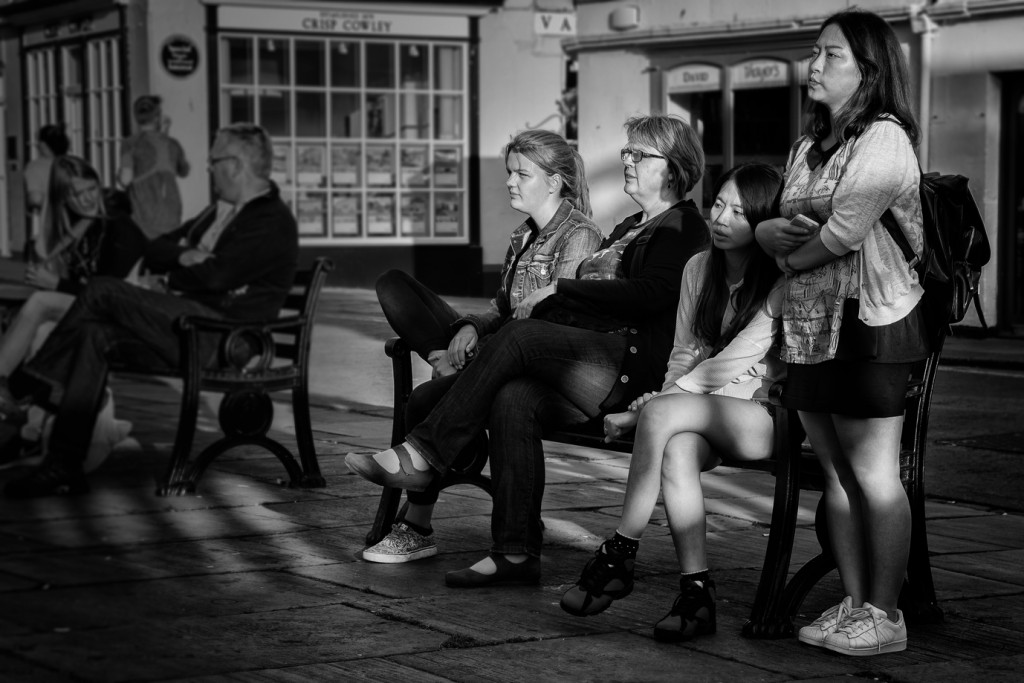 Bench watchers - UK/Bath street photography