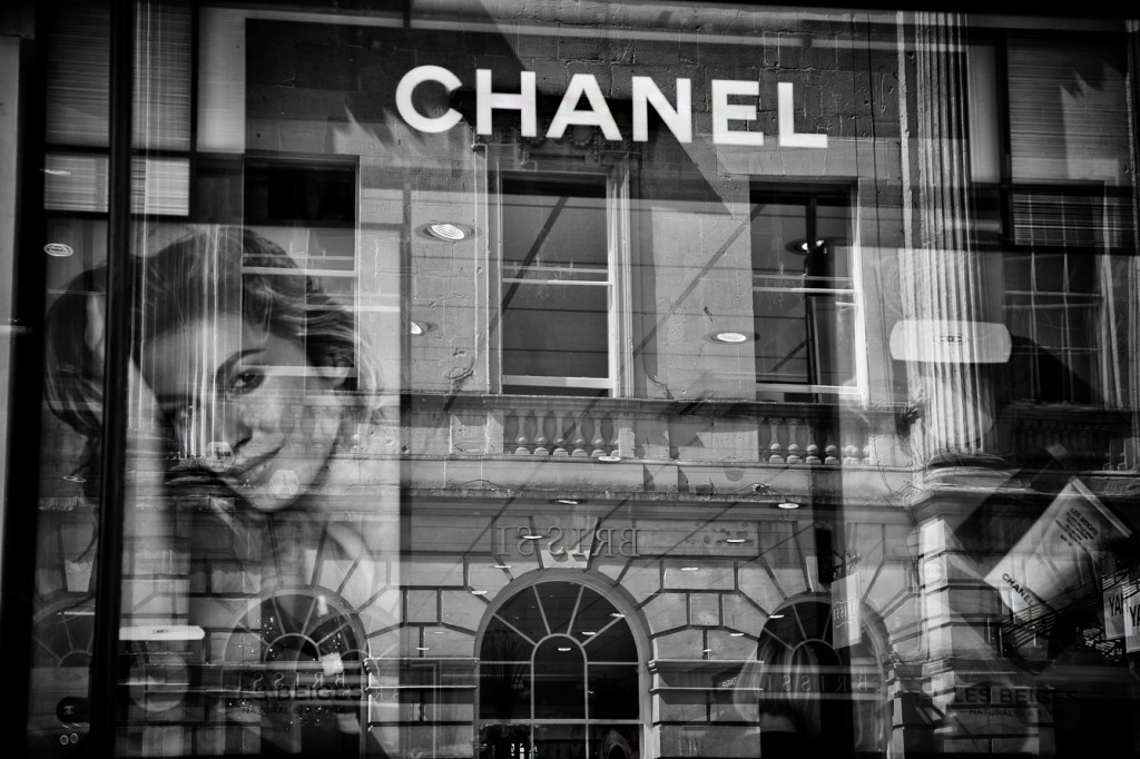 chanel reflections - UK street Photography