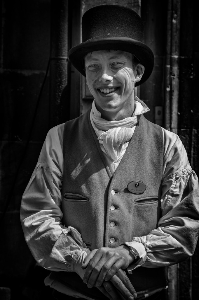 jane austen doorman - UK street Photography