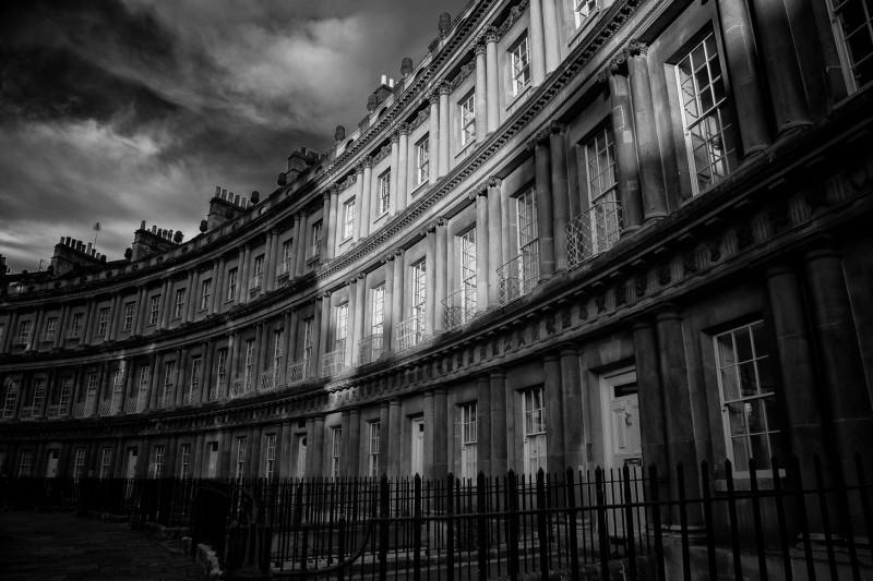 the circus at sunset - UK/Bath street photography - UK/Bath street photography