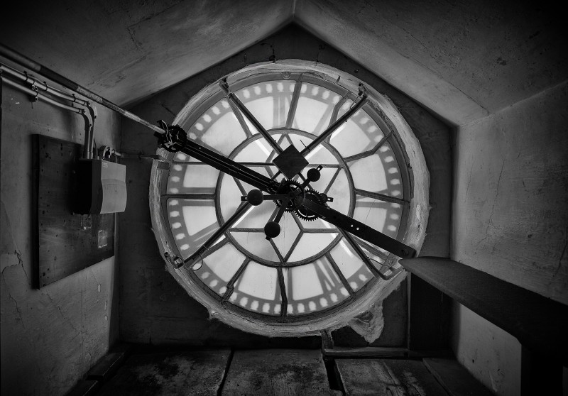 Bath abbey clock tower - UK street Photography