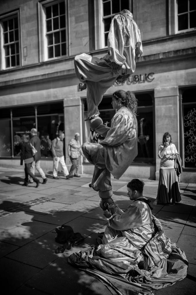 balancing act - UK street Photography