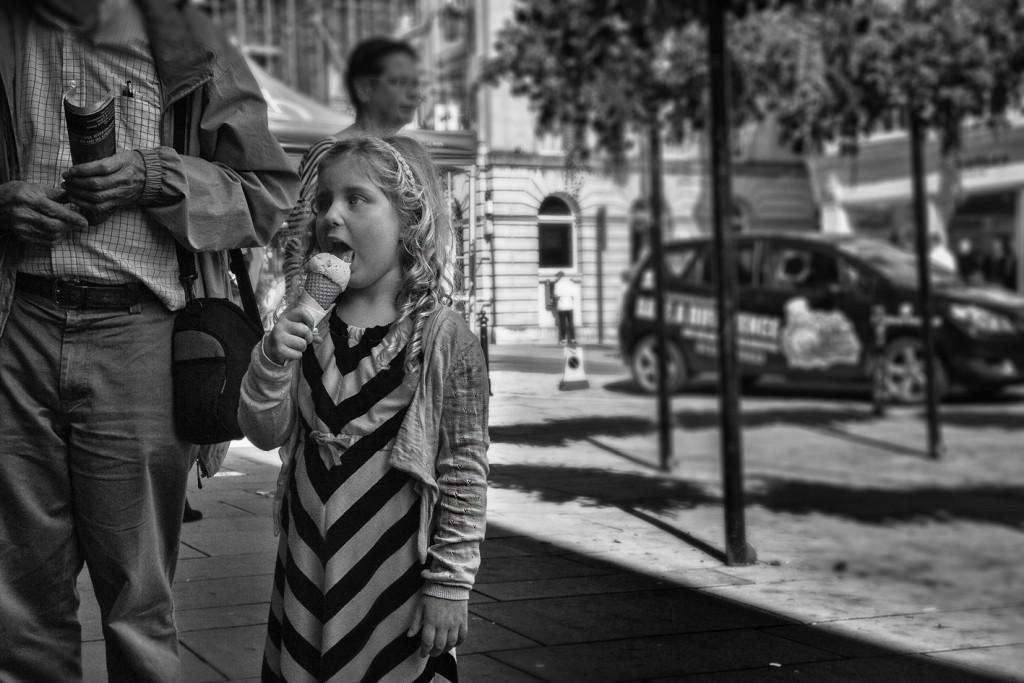 ice cream girl - UK street Photography