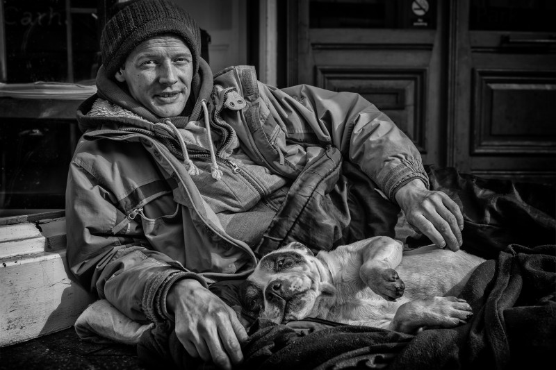 Street Portrait of Simon and Buster