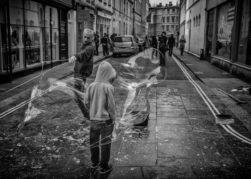 bubble boy - UK street Photography