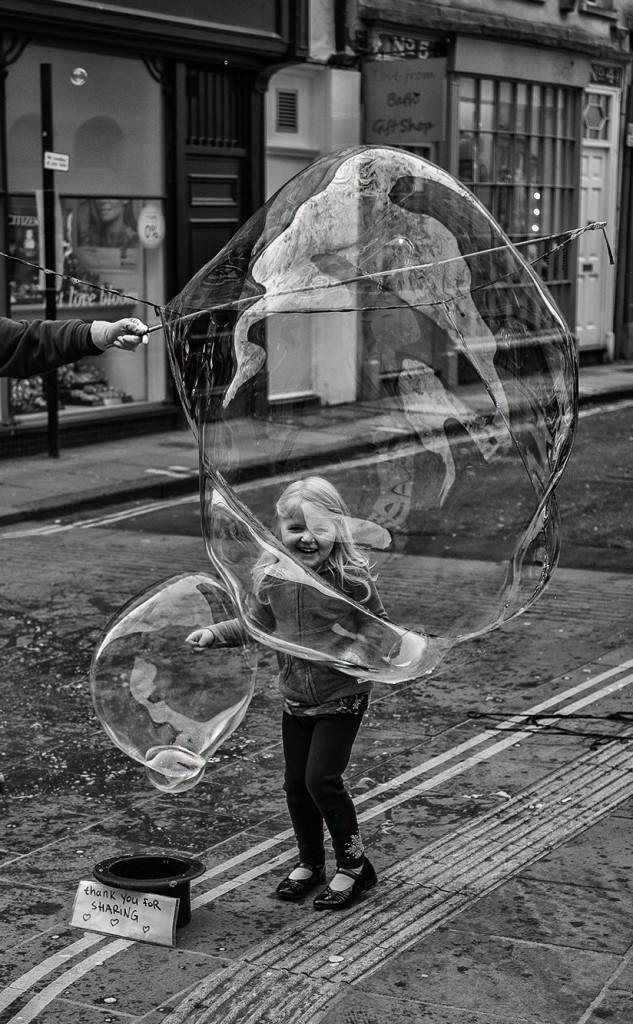 bubble girl - UK street Photography