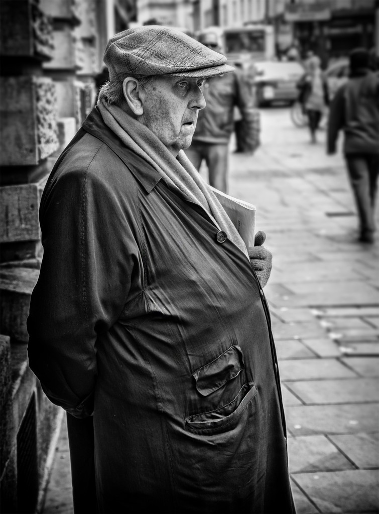 man wearing a cap - UK street Photography