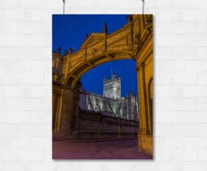 Arch framed bath Abbey-print