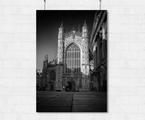 Bath Abbey at sunset-print