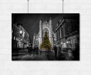 Bath Abbey Christmas Tree-print