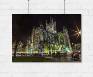 Bath Abbey traffic-print