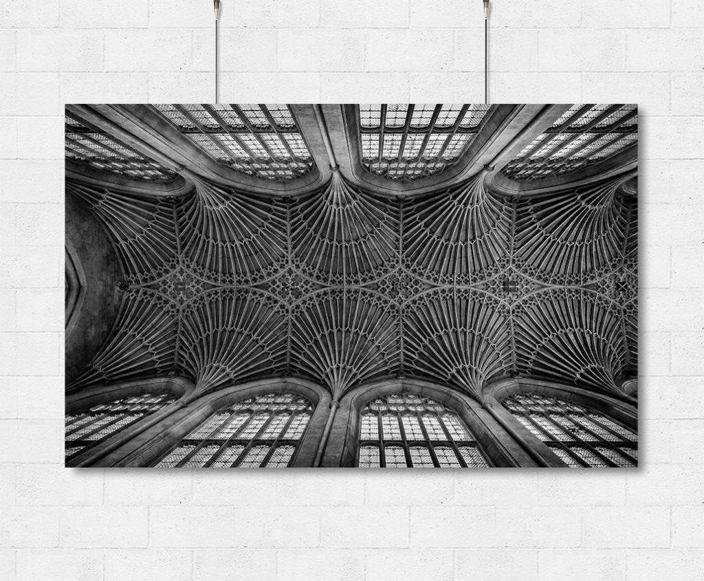 Bath Abbey vaulted ceiling-print