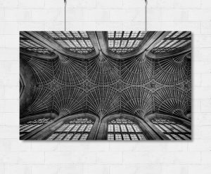Bath Abbey vaulted ceiling-print