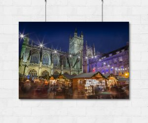 Bath Christmas Market lights-print