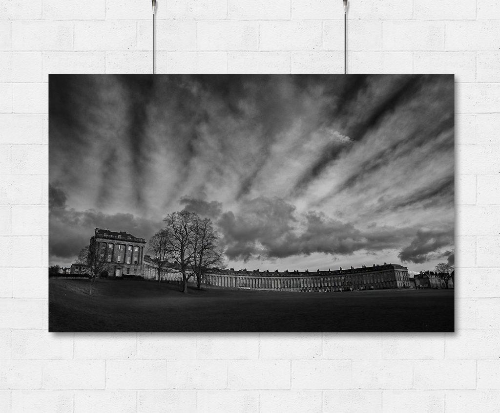Bath Royal Crescent and moody skies-print