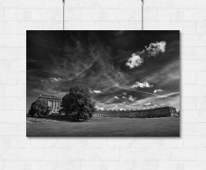 Bath Royal Crescent and summer skies-print