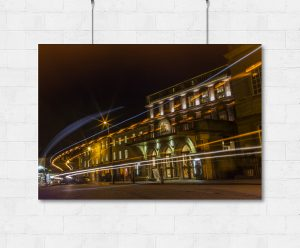 Bath Theatre Royal at night-print
