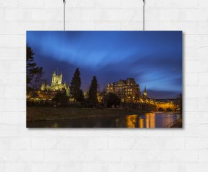 Blue Bath from the river-print