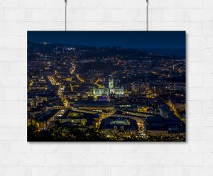 Night view over Bath-print
