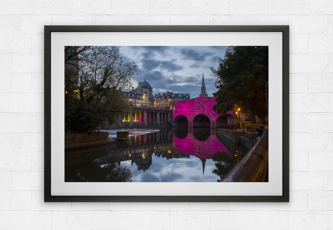 pink Pulteney Bridge in Bath