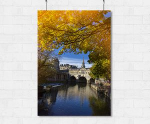 Pulteney Bridge in Autumn-print