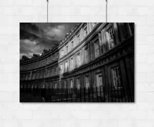 The Circus in Bath at sunset-print