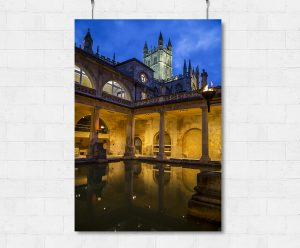 The Roman Baths at night-print