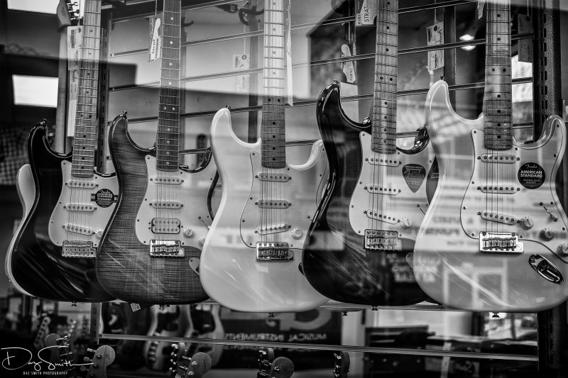 guitars - street photography - bristol