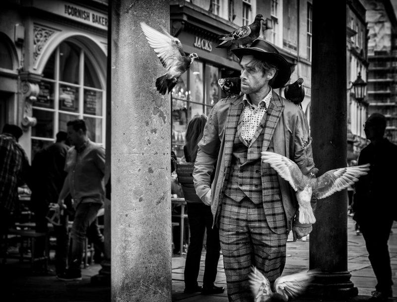 Paul - the pigeon man-UK stret photography